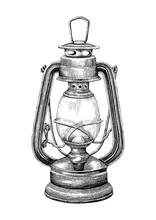 Vintage Lantern Hand Drawing E...