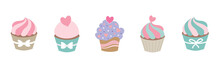 Colorful Cute Bake Shop Cupcak...