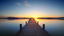 Stille Am Morgen Am Seeufer