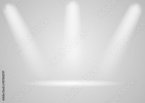 Fototapety, obrazy: Spotlights shine on the platform