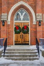 Gothic Oak Wooden Church Doors...
