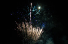 Fireworks With Moon