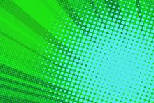 Pop Art Green Background Light