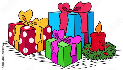 Weihnachtsgeschenke Clipart.Weihnachtsgeschenke Vektor Illustration Buy This Stock Vector