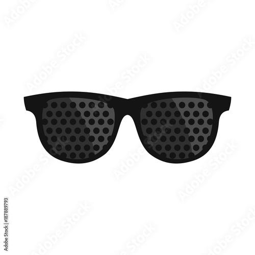 Bifocals icon, flat style Canvas Print
