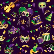 Mardi Gras. Seamless Pattern. ...
