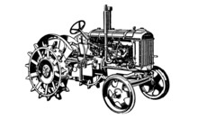 Tractor Illustration On White ...