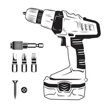Electric Screwdriver And Bits