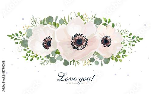 Photo Flower Bouquet vector watercolor design element