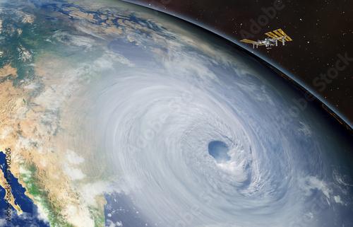 Keuken foto achterwand Nasa Giant hurricane seen from the space