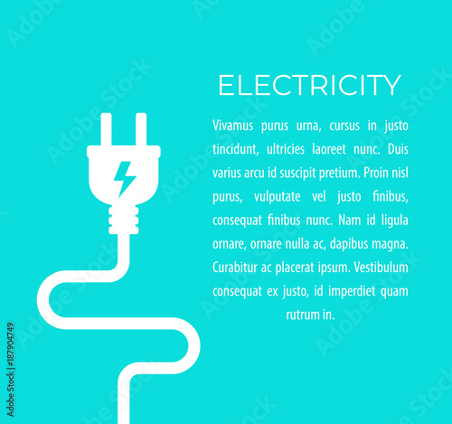 Foto electricity vector illustration with electric plug