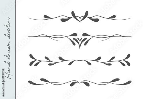 Vector Beautiful Flourish Text Divider Graphic Design