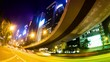 Time Lapse.The Evening Streets of Hong Kong.