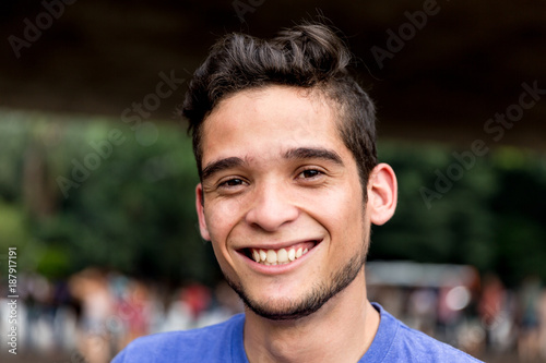 Fotografie, Obraz  Closeup of Young Man on urban background