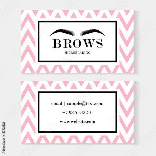 Set of brow artist business cards template with beautiful eyebrows set of brow artist business cards template with beautiful eyebrows for logo of master eyebrows and fbccfo Choice Image