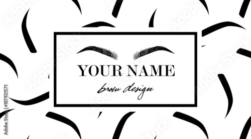graphic about Eyebrow Stencils Printable known as Forehead style and design symbol business office card template with hand drawing