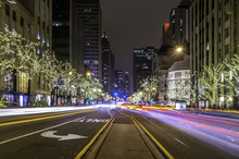 Magnificent Mile At Night