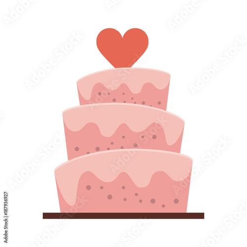 Leinwand Poster Wedding big cake icon vector illustration graphic design