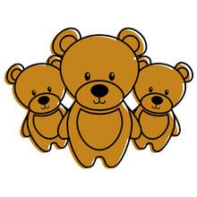 Three Teddy Bears Cute Animal ...