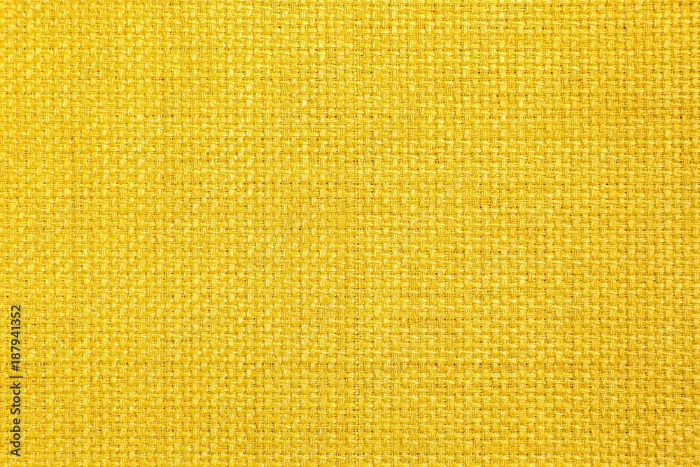 Fototapeta yellow color fabric texture background