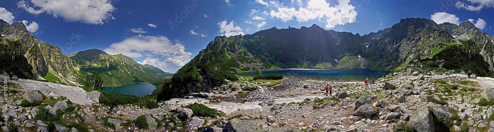 Fototapety, obrazy: Czarny Staw i Morskie Oko Panorama
