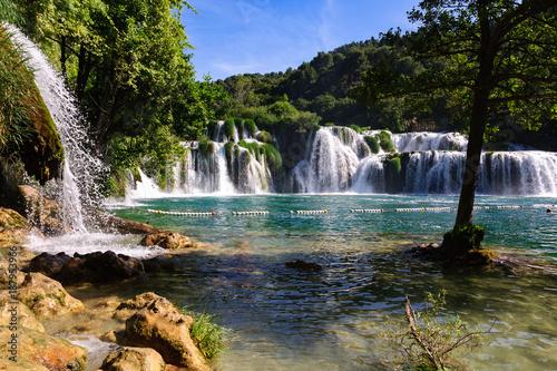 obraz lub plakat Wodospady Krka, Chorwacja