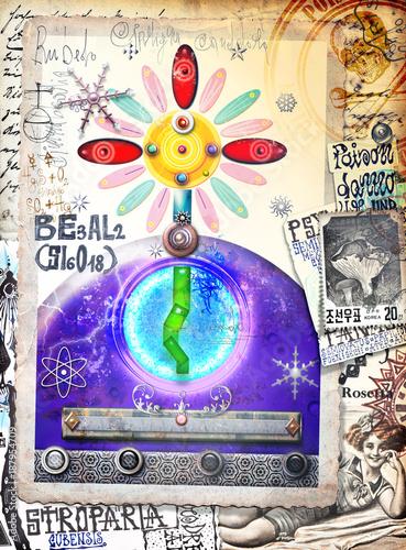 Poster Imagination Graffiti,manoscritti e disegni,alchemici,esoterici e astrologici