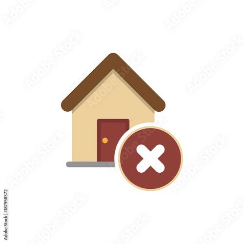 Fotografie, Obraz  Wrong House icon