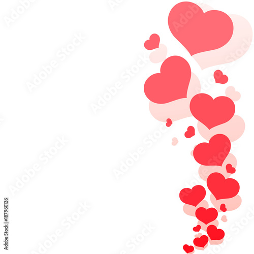 Blank Template Card With Red Hearts On A Romantic White Background Pattern From Decorative Hearts For The Design Of Greeting Cards Banners Posters For Valentine S Day And Wedding Invitations Vector Buy