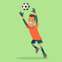 Flat Football Soccer Goalkeepe...