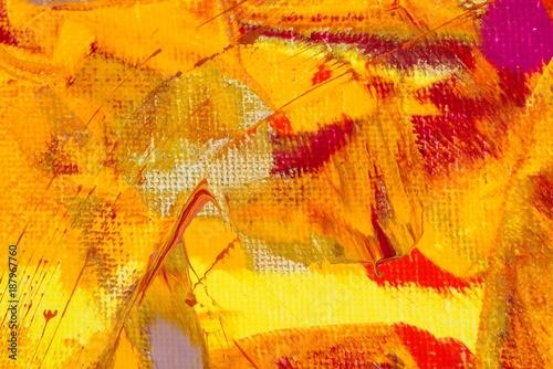 Photo Hintergrund in Braun-Rot-Gold-Gelb-Orange-Pink, Textur, Leinwand, Gouache-Farbe,