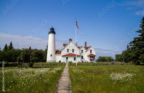 Fotografie, Obraz  Scenic Michigan Lighthouse Landscape