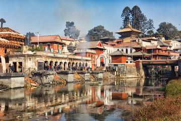 Pashupatinath, rijeka Bagmati, Kathmandu, Nepal