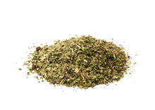 Pile Of Mate Tea Leaves Isolated