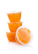 Single Cups With Peach In Frui...