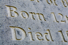 Old Gravestone - Born And Died