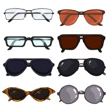 Vector Set Of Cartoon Glasses ...