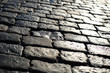 Texture of stone pavement tiles bricks cobblestones background