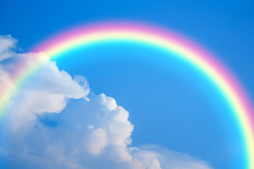 Sky and rainbow background