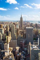 Manhattan Skyline in New York City mit Empire State Building, USA