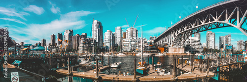 Canvas Prints Gray Vancouver Panorama