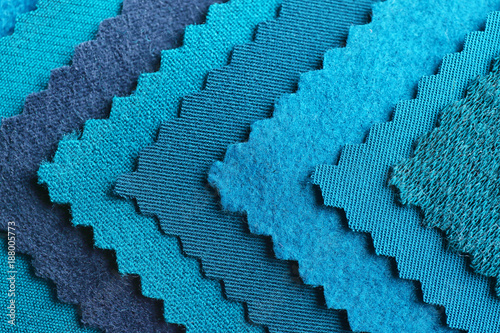 Blue fabric samples, closeup Slika na platnu