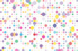 Colorful dotted bckground with circles, dots, point different size, scale. Confetti pattern.