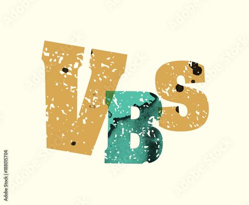 Fototapeta  VBS Concept Stamped Word Art Illustration