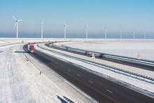 Dutch Winter Landscape With Hi...