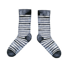 Pair Of Striped Socks, Black A...