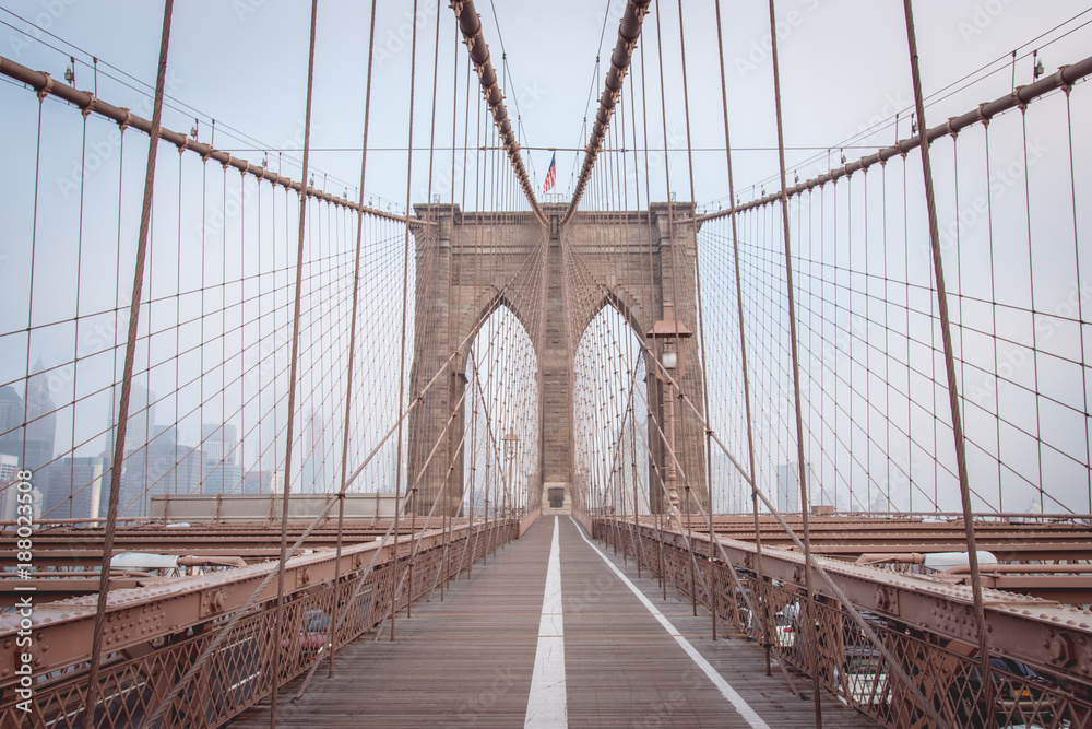 Photo & Art Print Brooklyn Bridge in New York, USA | EuroPosters
