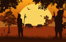 Native American Indian Silhoue...