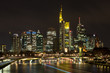 Skyline Frankfurt at night