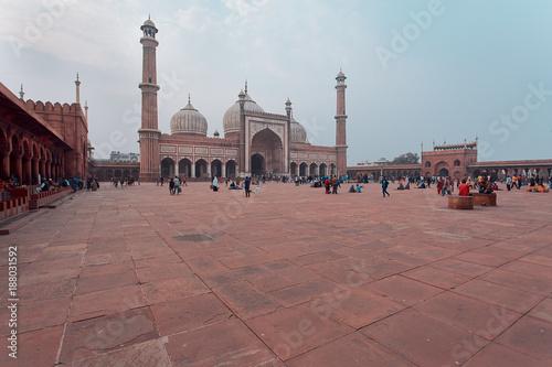 Printed kitchen splashbacks Delhi Jama Masjid mosque in New Delhi India